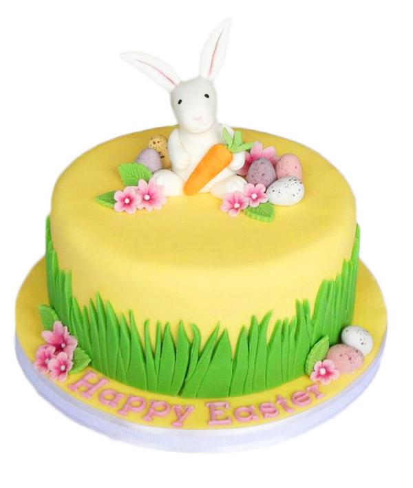 Пасхальный торт с зайцем и морковкой
